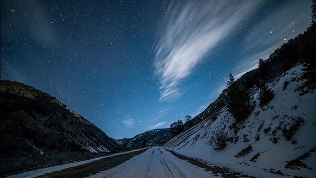 Stuck on an airplane at the gate in Chicago has me remembering this frozen night on a frozen road in Sun Valley, Idaho. @visitsunvalley @sunvalley #VisitIdaho #SeekSunValley #SunValley #IG_Idaho #Idahome #IdahoExplored #IdahoDaily