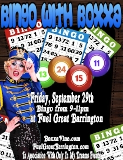 DRAG BINGO at      FUEL GREAT BARRINGTON          SEPTEMBER 29, 2017