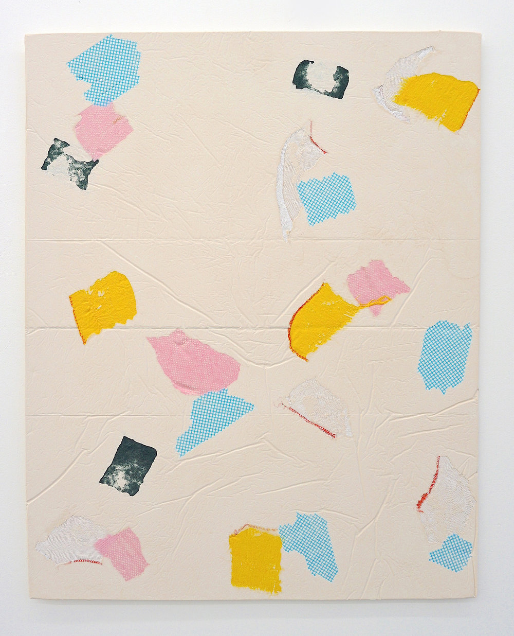 Domestic Bliss (yellow, blue, green, pink)   Composite, Mixed Media   100 x 80 cm