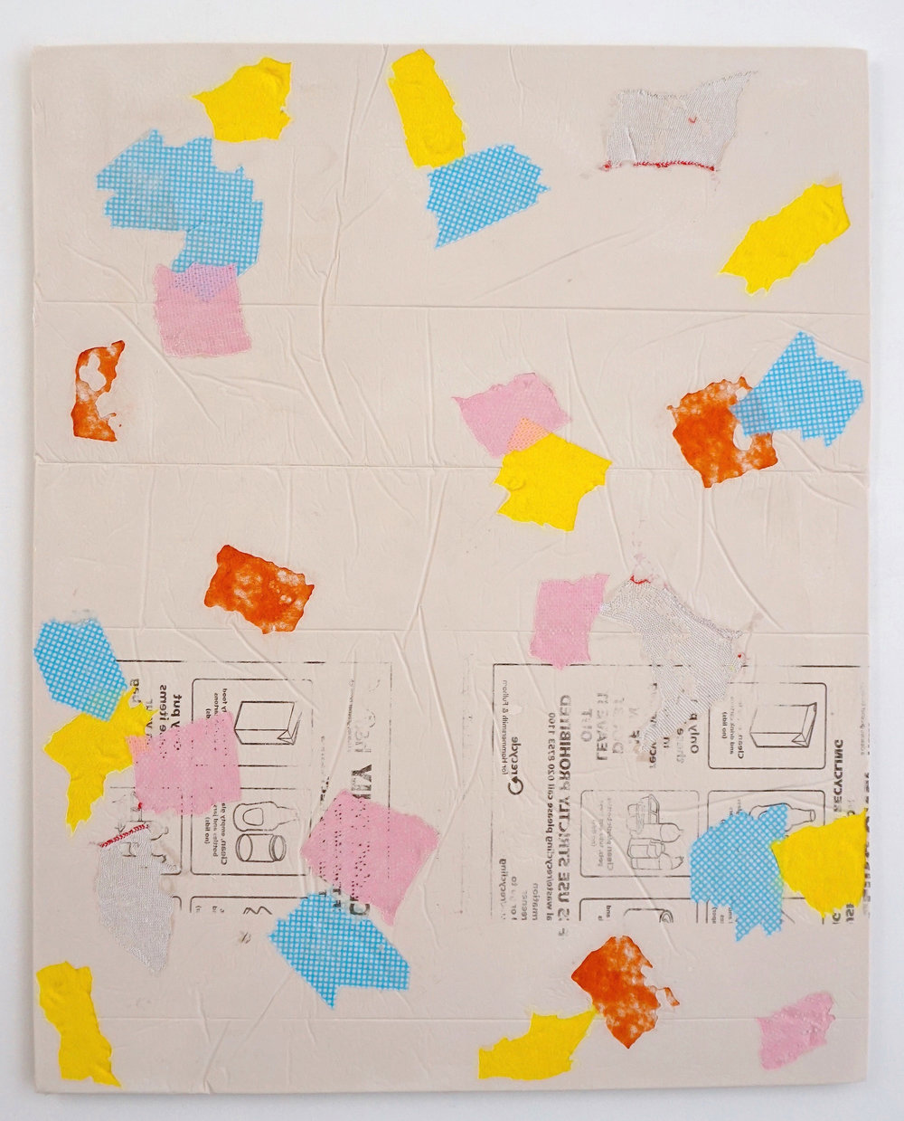 Domestic Bliss (yellow, blue, orange)   Composite, Mixed Media   100 x 80 cm