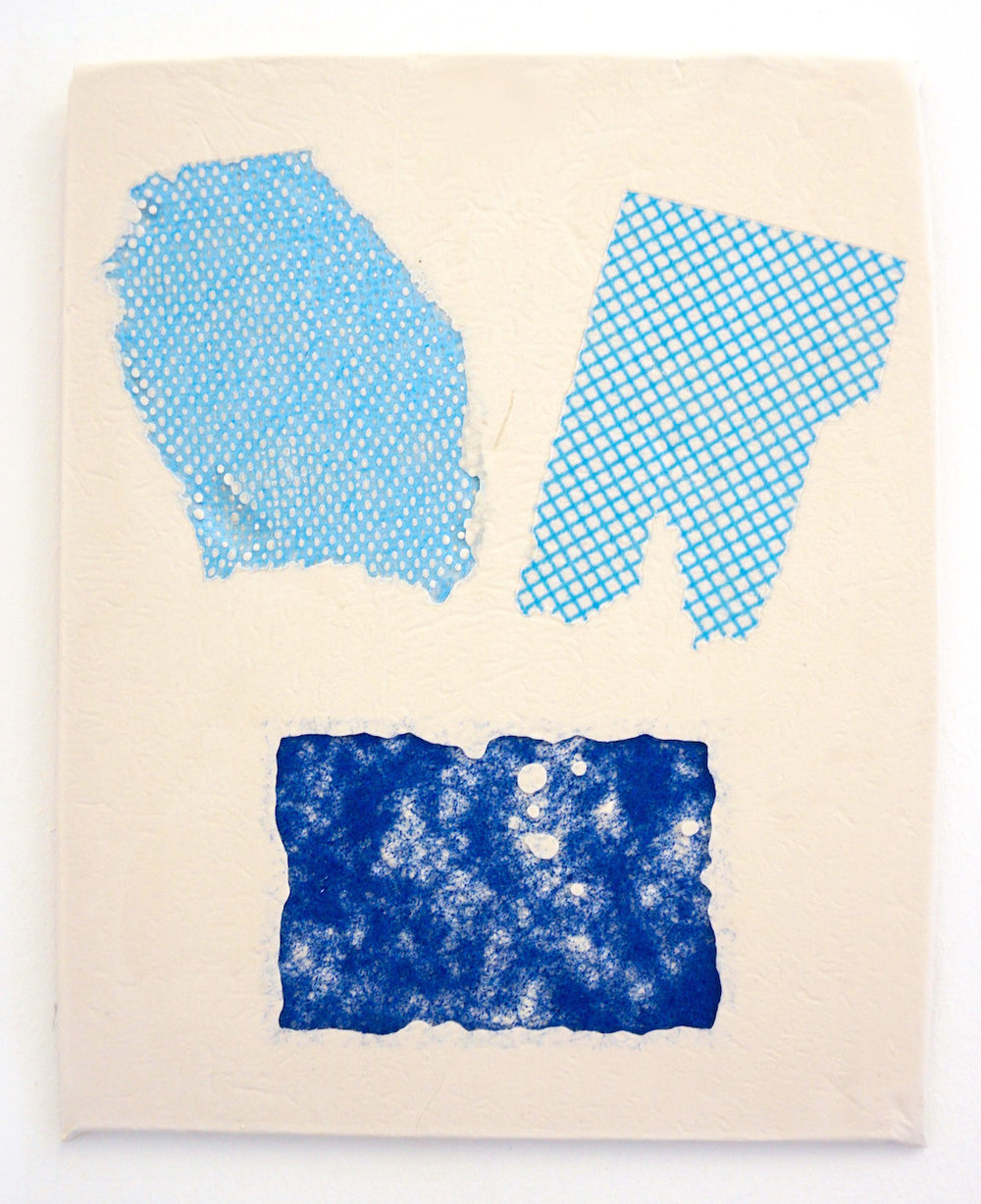 Domestic Bliss Fragment (blue)   Composite, Mixed Media   35 x 28 cm  (The Ned Collection)