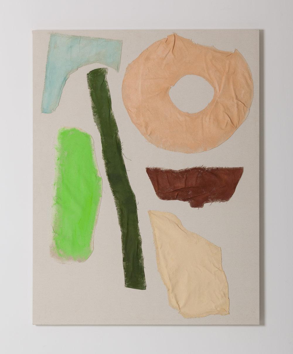 Doughnuts, Dustpan, Marble, Wood   130 x 100 cm   Acrylic on Canvas