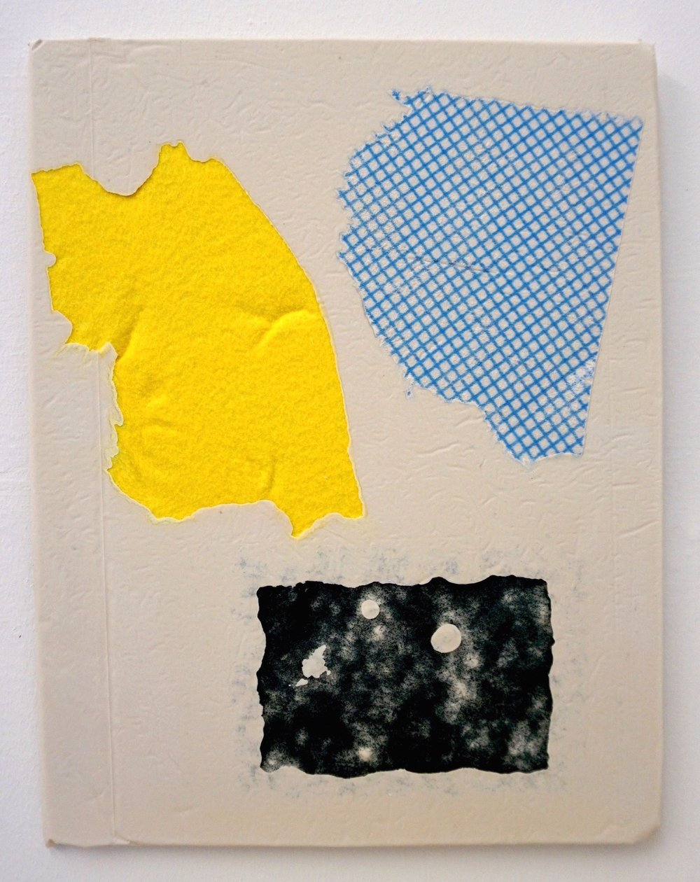 Domestic Bliss Fragment (yellow, blue, Green)   Composite, Mixed Media   35 x 28 cm