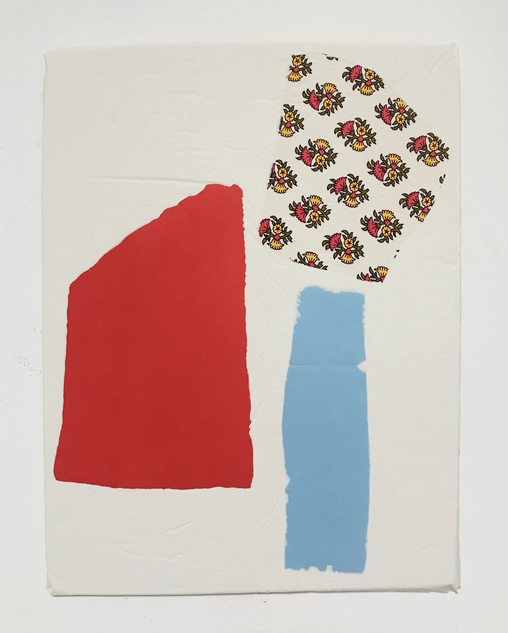 Untitled Fragment (red foam, blue pvc, cotton) | Composite and Mixed Media | 42 x 32cm