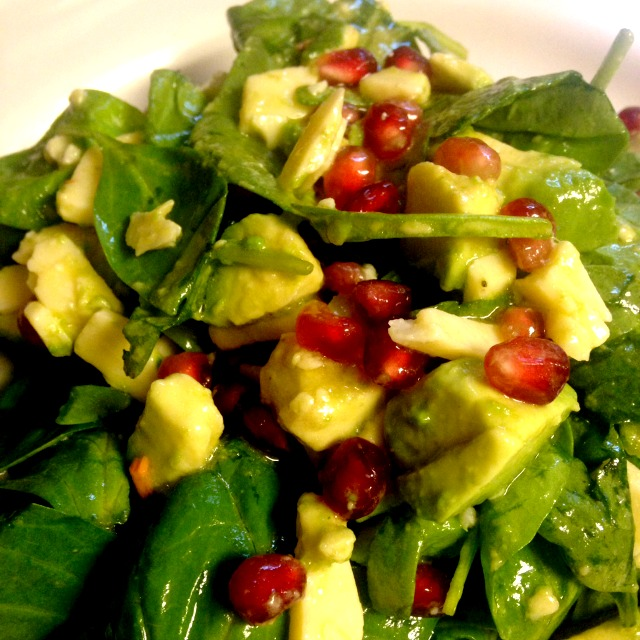 Spinach Salad with Lemon Vanilla Dressing