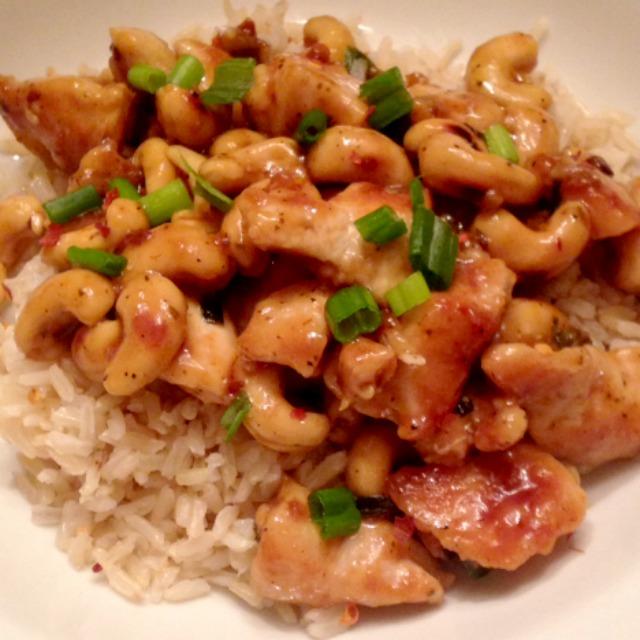 Healthy Cashew Chicken Dinner