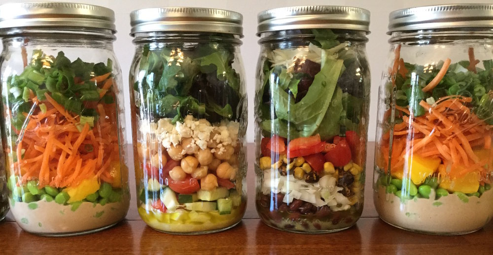 Salad In A Jar Meal Prepping
