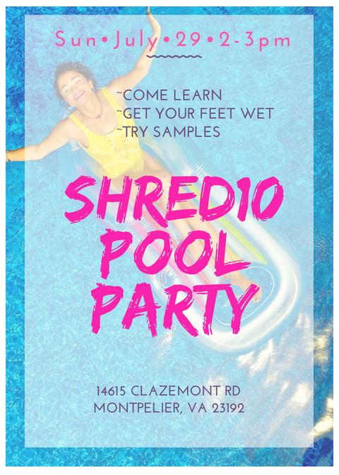 Shred 10 Learn More Pool Party