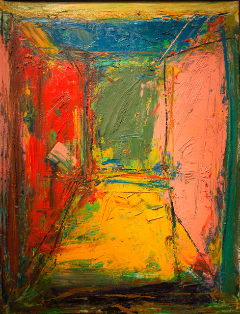 Norton Wisdom, untitled, 1987, oil on canvas, 48 x 36 inches