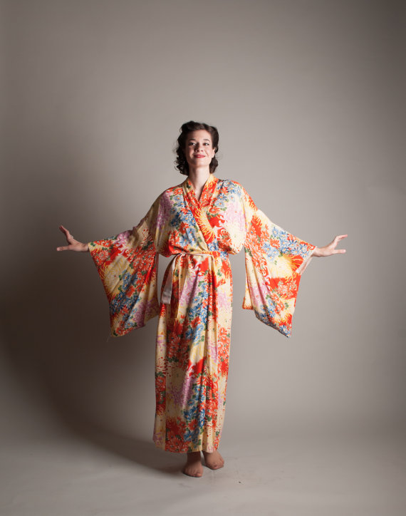 You can purchase this vintage kimono for $248- from  Concetta's Closet
