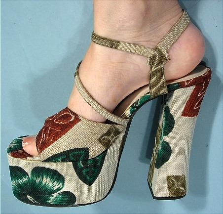 You can purchase these vintage 1970's platforms for $425- from Antique Dress