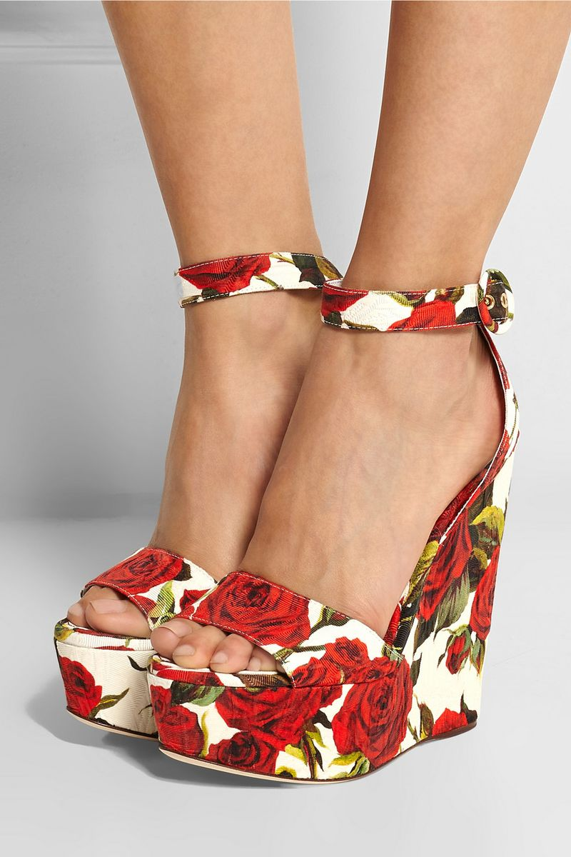 You can purchase these new Dolce & Gabbana platforms for $1,045- from Net-A-Porter