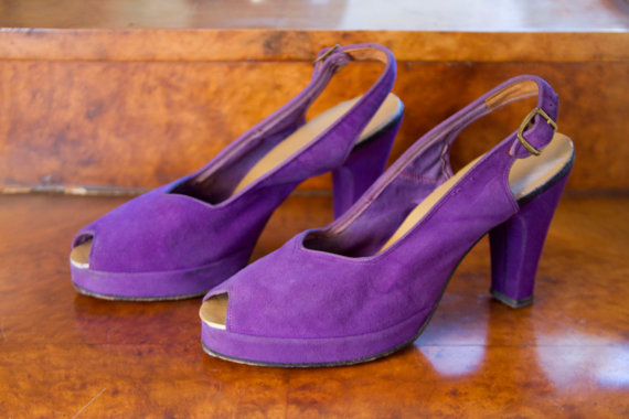 You can purchase these vintage 1940's platforms for $98- from GarbOhVintage
