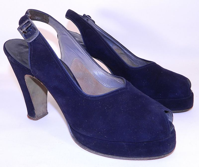 You can purchase these vintage 1940's platforms from  Black...
