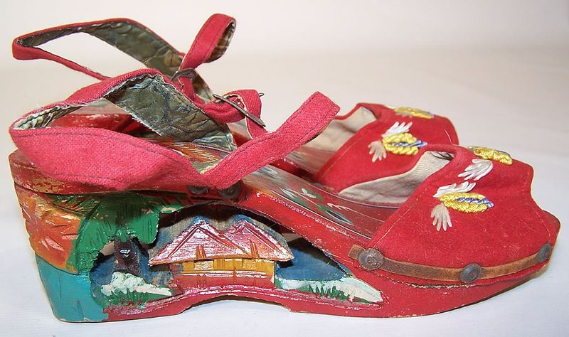 You can purchase these vintage 1940's platforms for $100- from  1860-1960