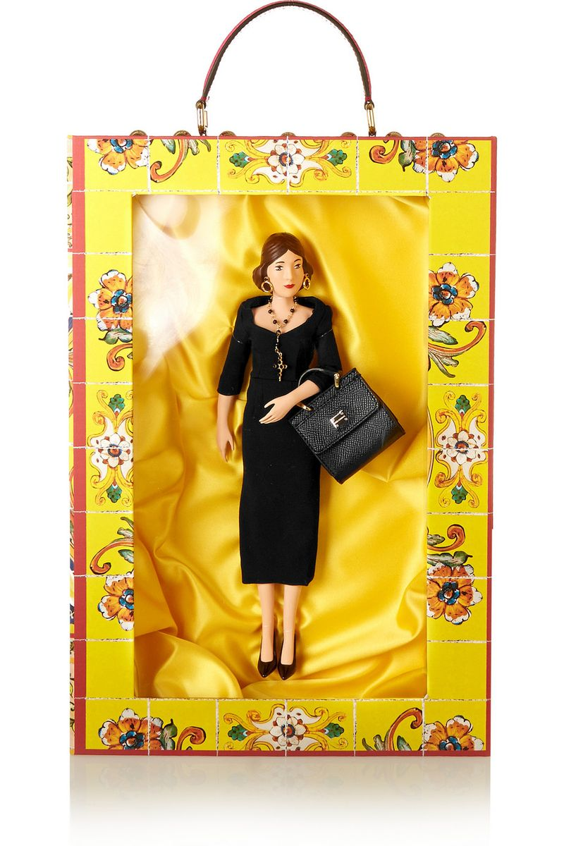 Dolce & Gabbana Immacolata doll and box set.  You can purchase this new set for $2,875- from  Net-A-Porter