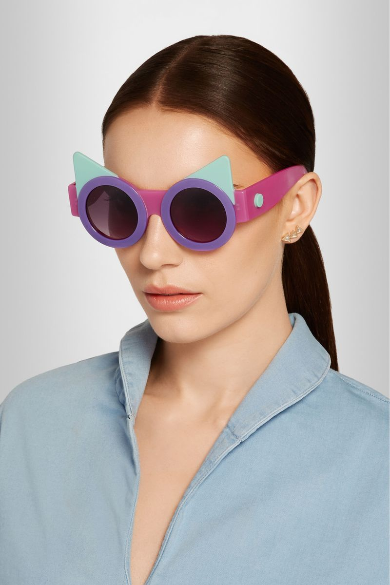 You can purchase these new sunglasses for $385- from   Net-A-Porter