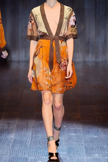 You can purchase this new Gucci dress for $15,500- from   Net-A-Porter