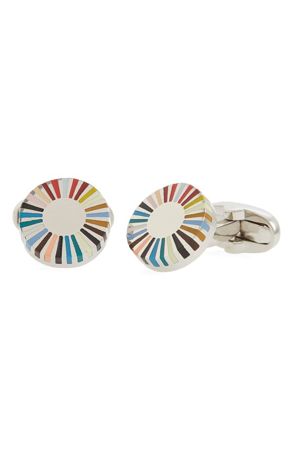 You can purchase these new Paul Smith cuff links for $140- from Nordstrom.