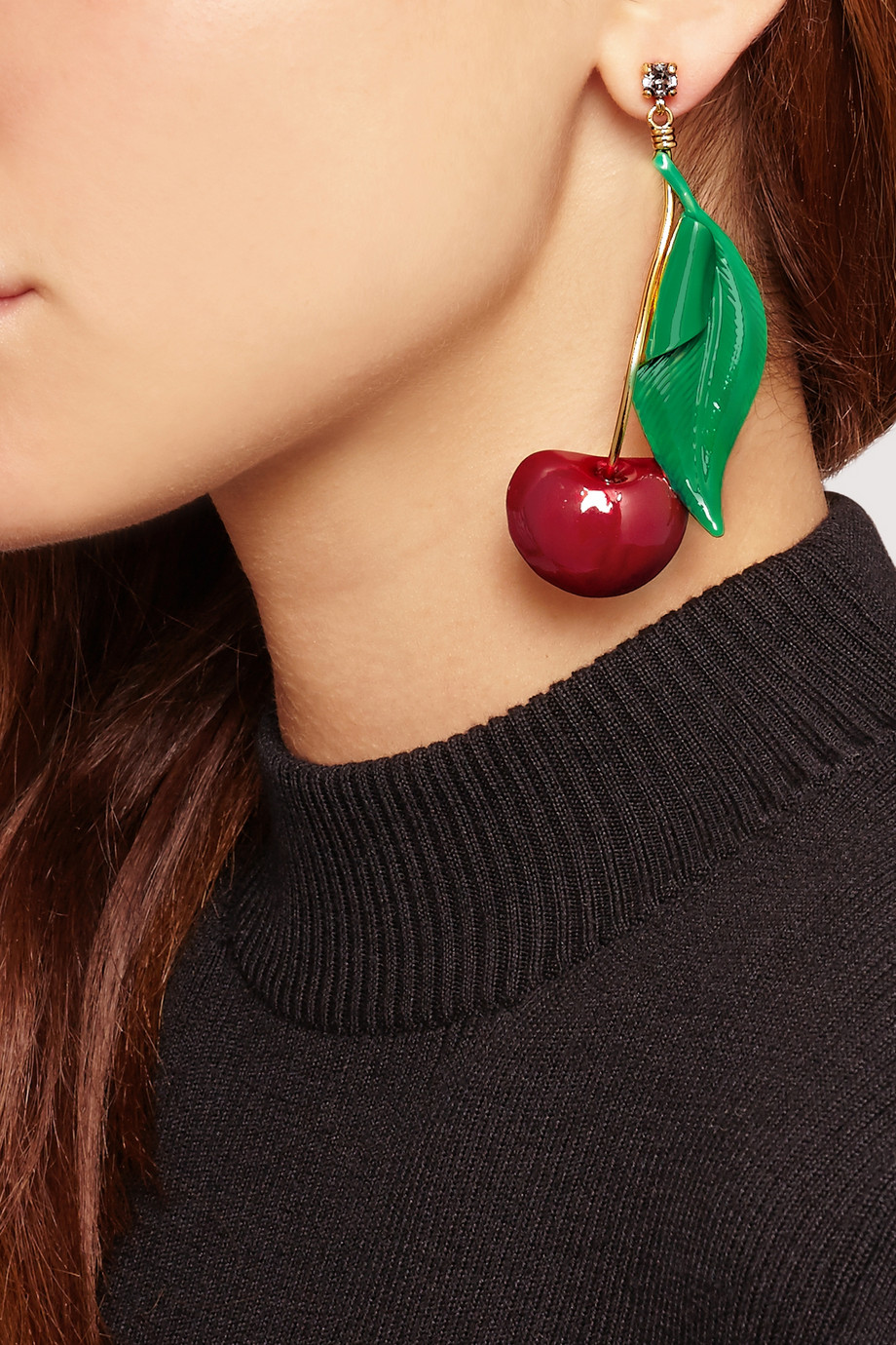 You can purchase these new cherry earrings by Erickson Beamon for $495- from  Net-A-Porter