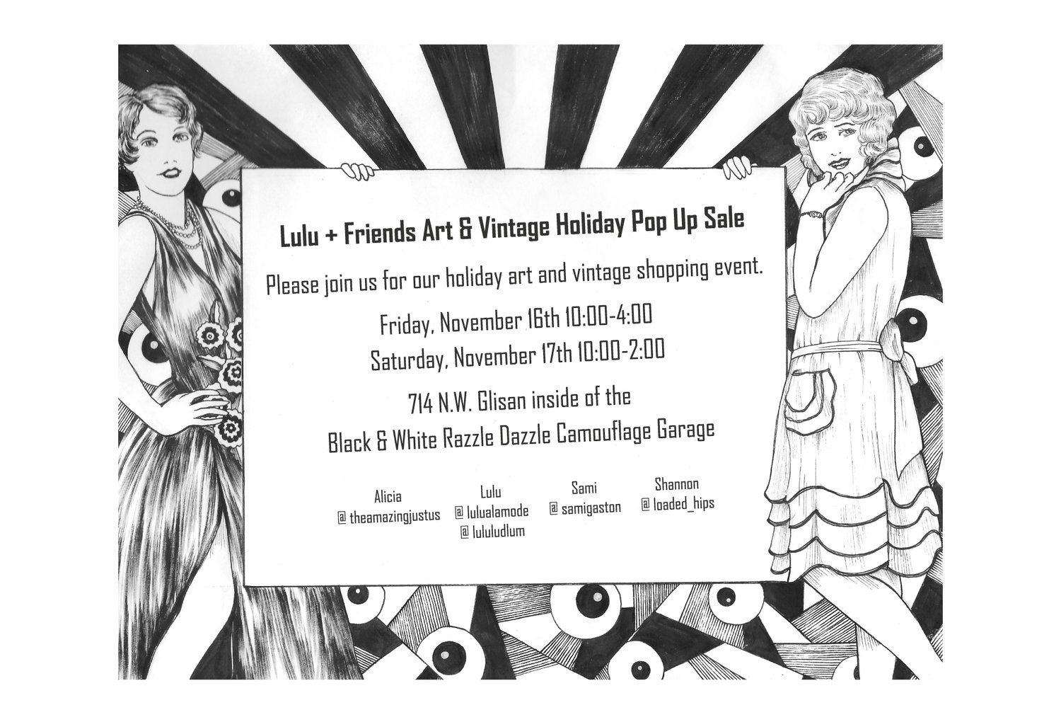 f1c0d7ada4edb Lulu + Friends Art & Vintage Holiday Pop Up Sale Happening Today 11/17/18 —  Lulu's Vintage