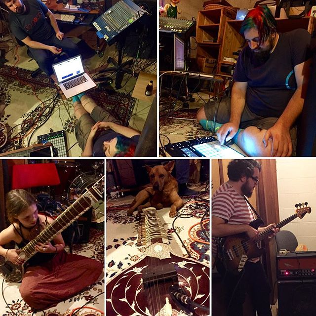 #Supercluster session 2 was super dope. #ambient #electronic #abletonpush #sitar
