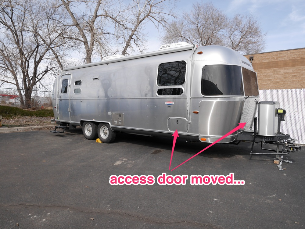 Picking up our Airstream after extensive modifications; we're so excited!