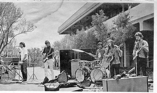 Fritz perform at Cañada College, April 1969 (c) The Newspaper, Cañada College