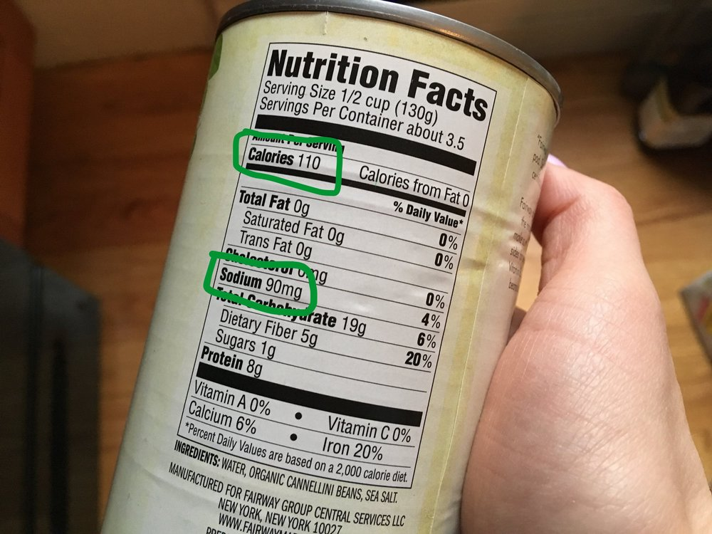 These canned beans have 110 calories per serving and only 90mg of sodium. Go for it!