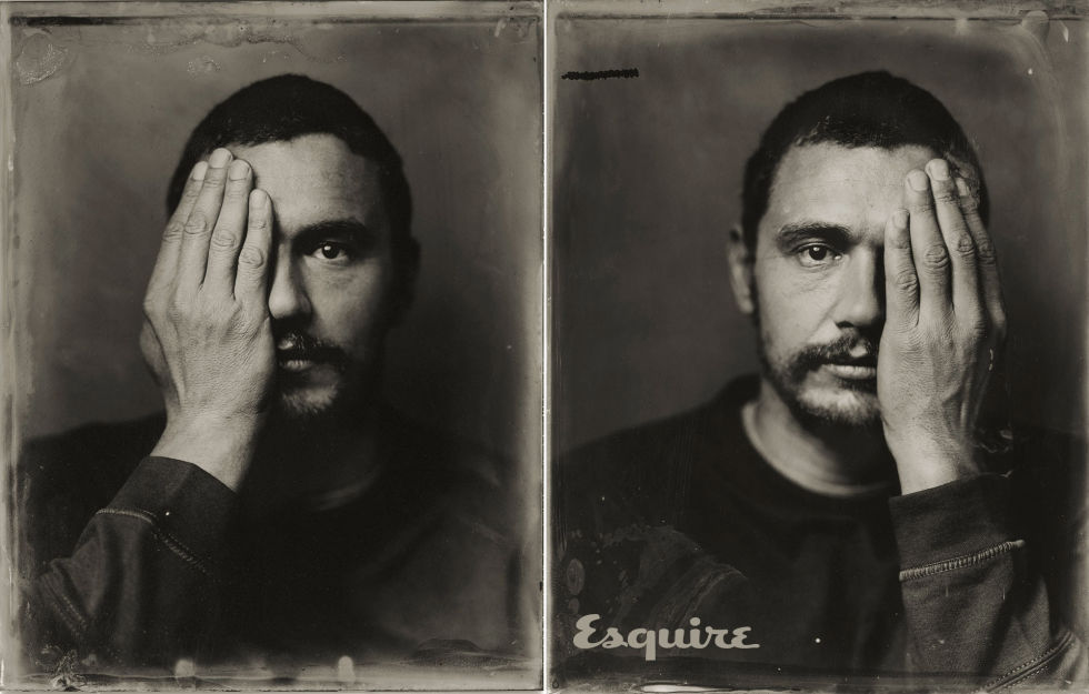 Tintype of James Franco taken by Victoria Will at Sundance, 2015