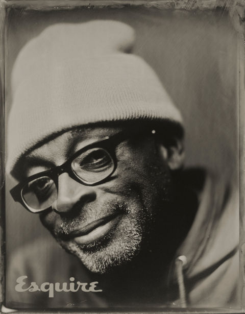 Tintype of Spike Lee taken by Victoria Will at Sundance, 2015