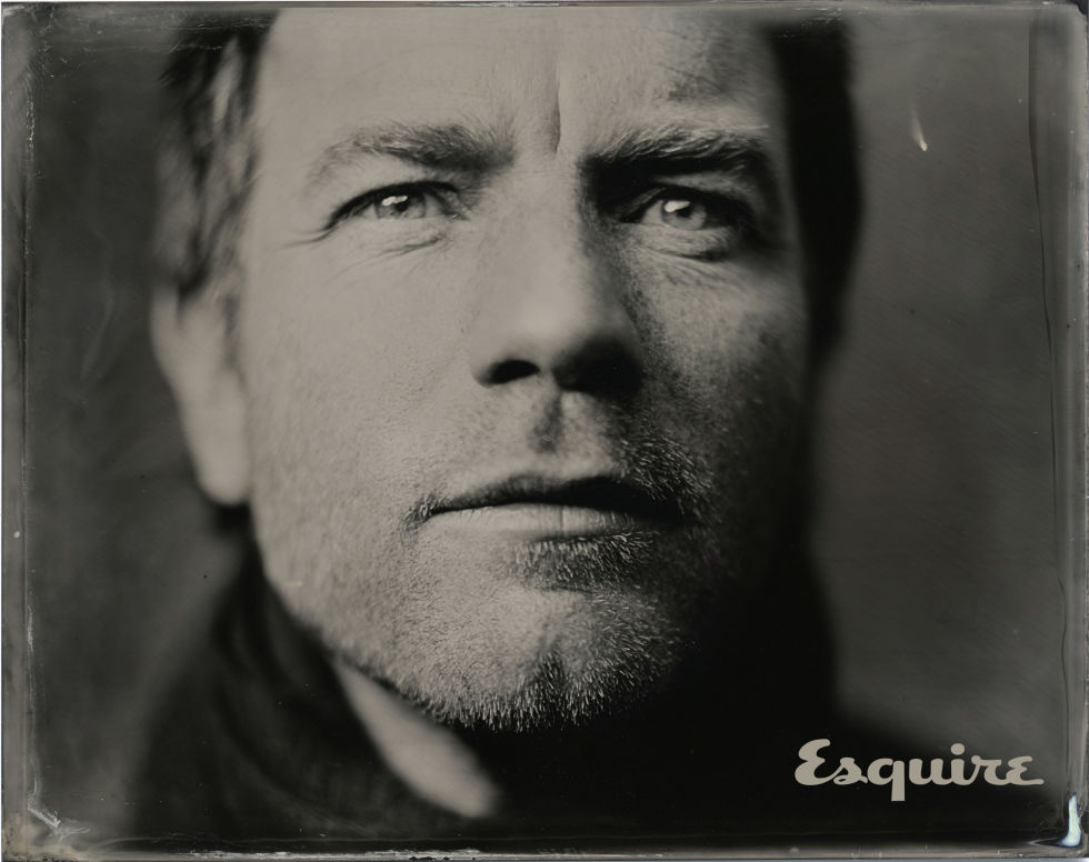Tintype of Ewan McGregor taken by Victoria Will at Sundance, 2015