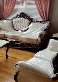 Plastic and Fabric Slipcovers New Way Home Decor