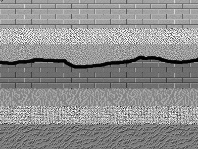 Taken from Wikipedia, this shows erosion above the dark brick layer.