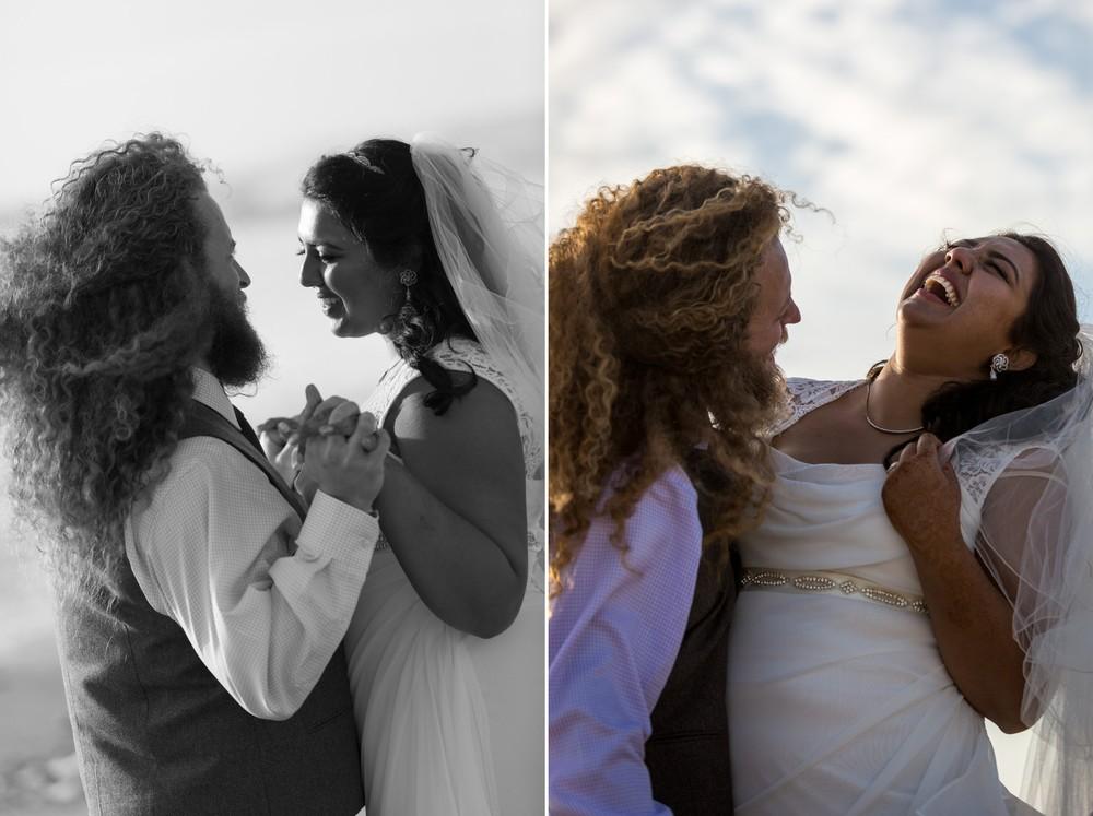 happy couple-Ventura Beach Wedding