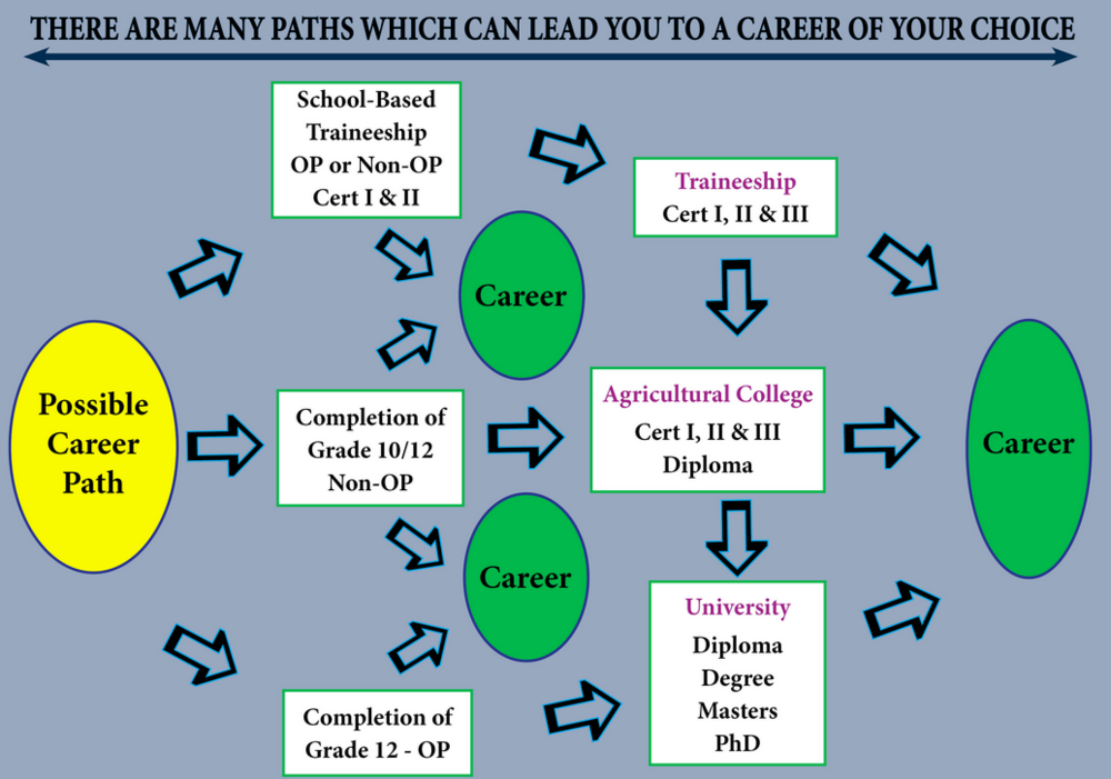 """""""There are many paths that can lead you to your career of choice"""", FutureAg, AgForce Queensland."""