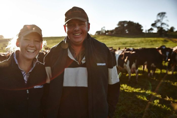 Kevin and Brodie Game on their lease in the Bega Valley. Photo: ABC Rural, Joshua Becker