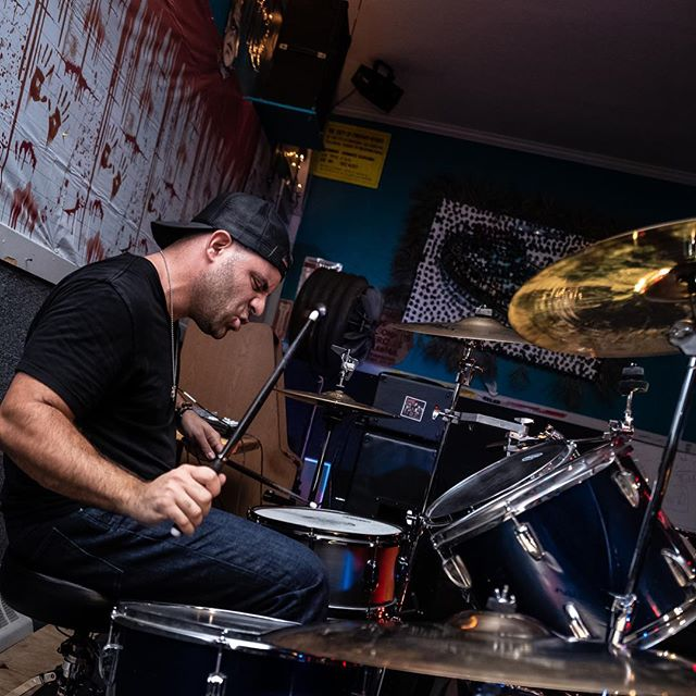 To live is to drum...@turo.718 pounding away in Brooklyn this past weekend during our killer set! Special thanks to @scryer_photo for always taking the best 📸! . . . . . #live #liveperformance #livetoplay #drum #drumming #drummer #nyc #brooklyn #nycmusician #drummersofinstagram #drummerslife #tour #stage #aheaddrumsticks #ahead #rockandroll #band #potd #photography #drumset #show #mondaymotivation #queens #play #beats