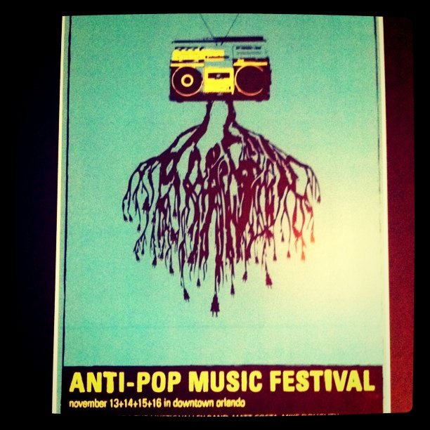 Old poster I did for anti-pop music festival (Taken with  instagram )
