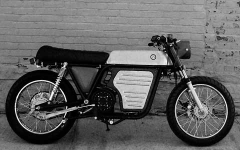 electric cafe racer from Brooklyn Motorized