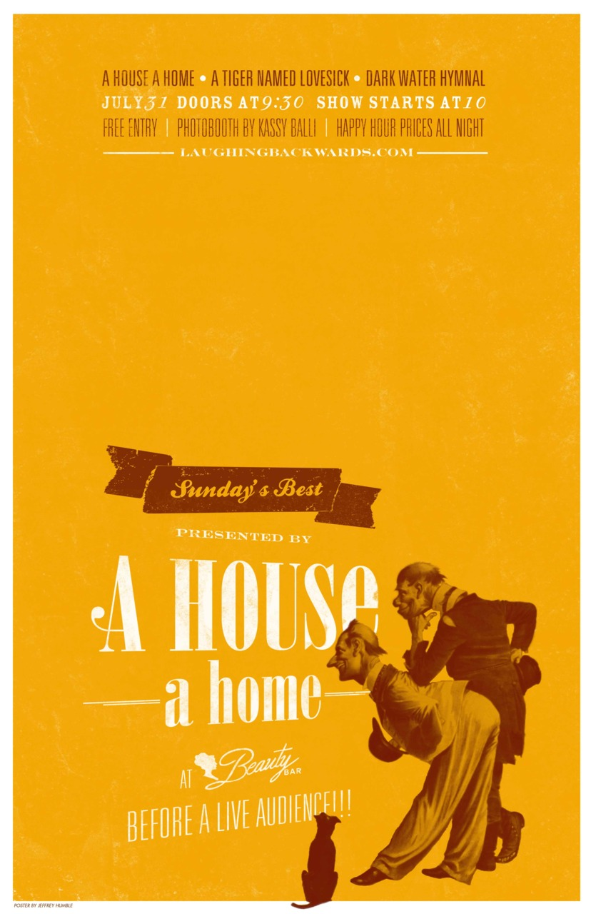 "Another poster I did for A House A Home and their concert series, Sunday's Best.    11""x17"" 2-colors"