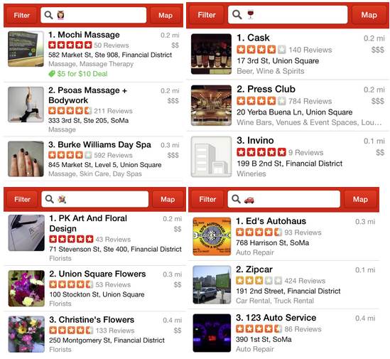 Next in the works for Yelp: emoji-only reviews…