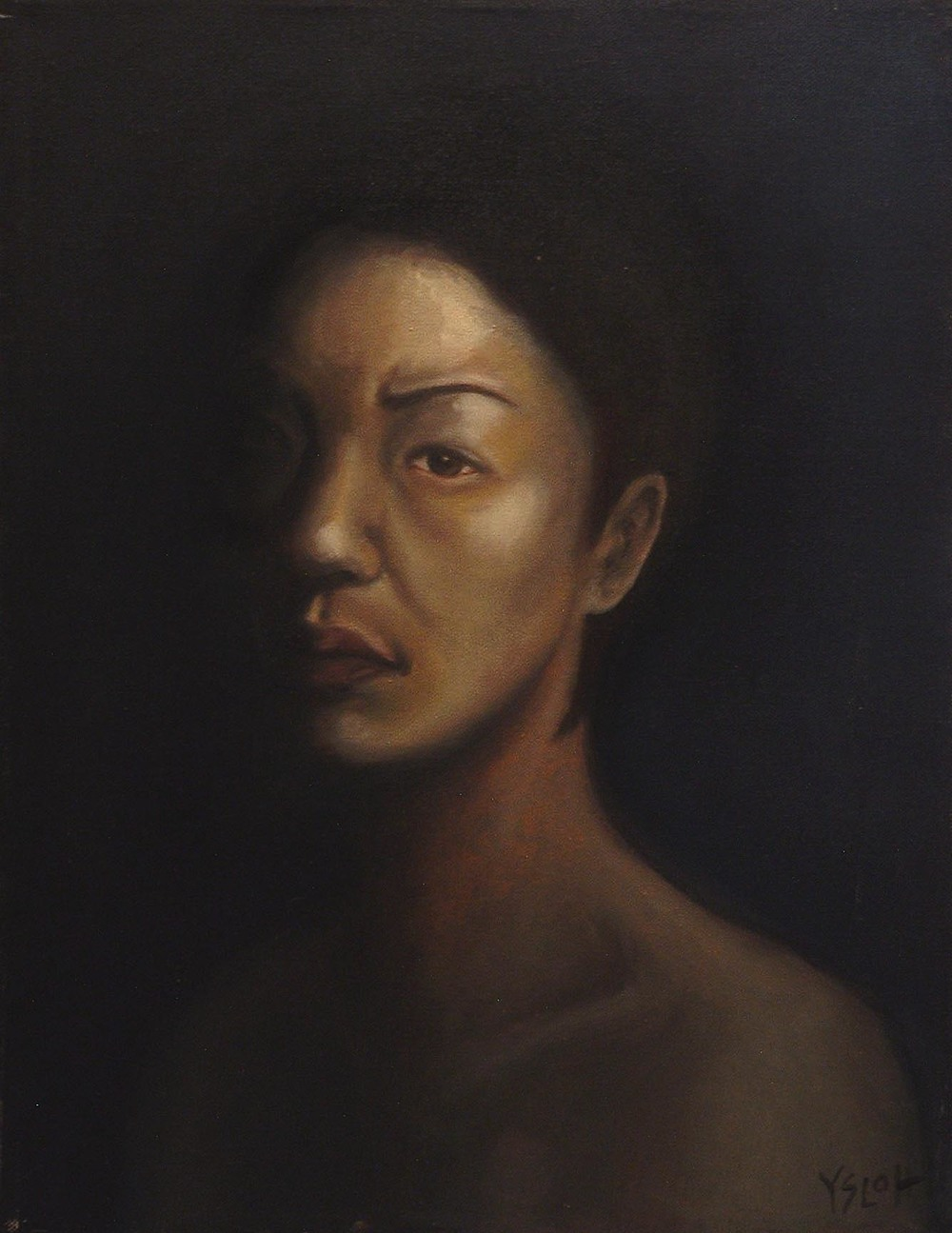 Self-Portrait   oil on canvas, 18 x 14