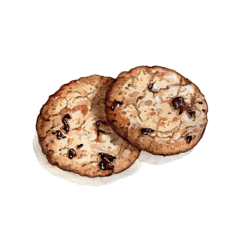 O for Oatmeal Raisin Cookies