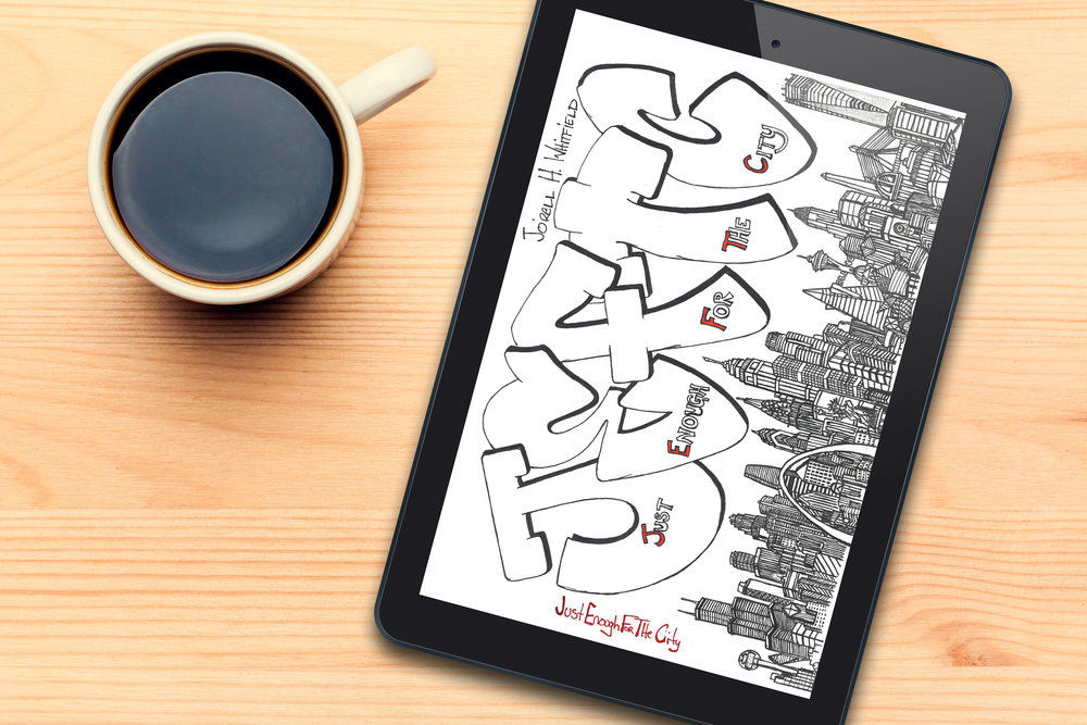 Copy of Just Enough For The City Poetry Book Tablet and Coffee