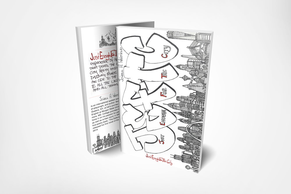 Copy of Just Enough For The City Poetry Book Front and Back