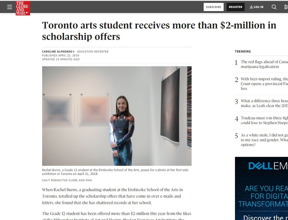 Click here to read the Article in the Globe and Mail