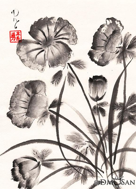Flowers BW 2