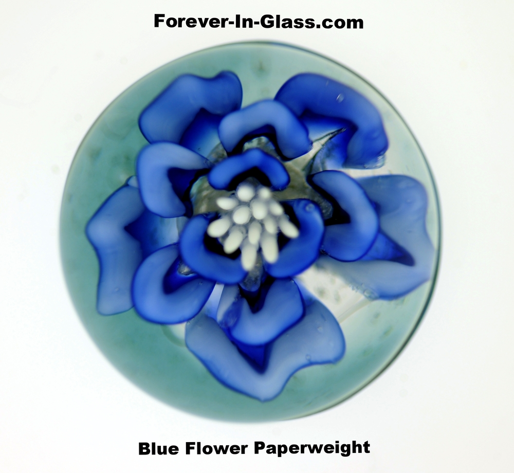 Blue Flower Paperweight.JPG