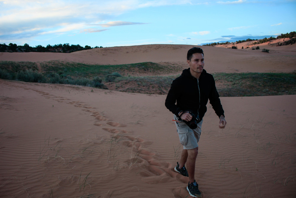 Pink Sand Dunes State Park, Utah. My first time seeing sand dunes.